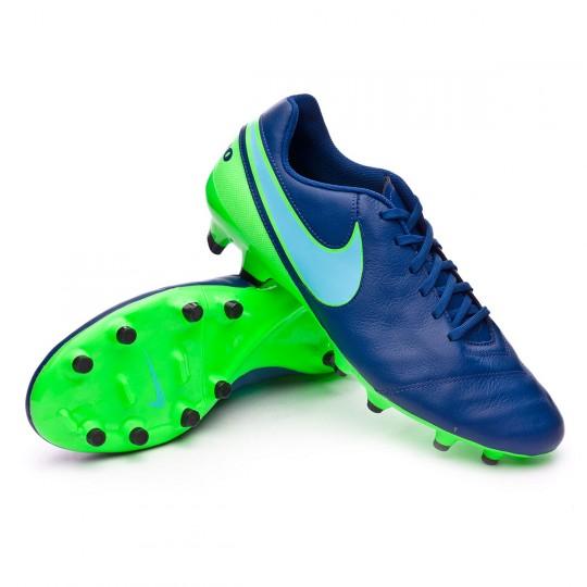 Chuteira  Nike Tiempo Genio Leather II FG Coastal blue-Polarized blue-Rage green