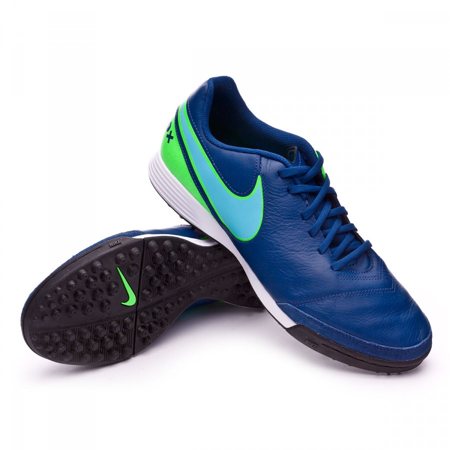 495813ea6f0 ... Zapatilla TiempoX Genio Leather II Turf Coastal blue-Polarized blue-Rage  green. CATEGORY