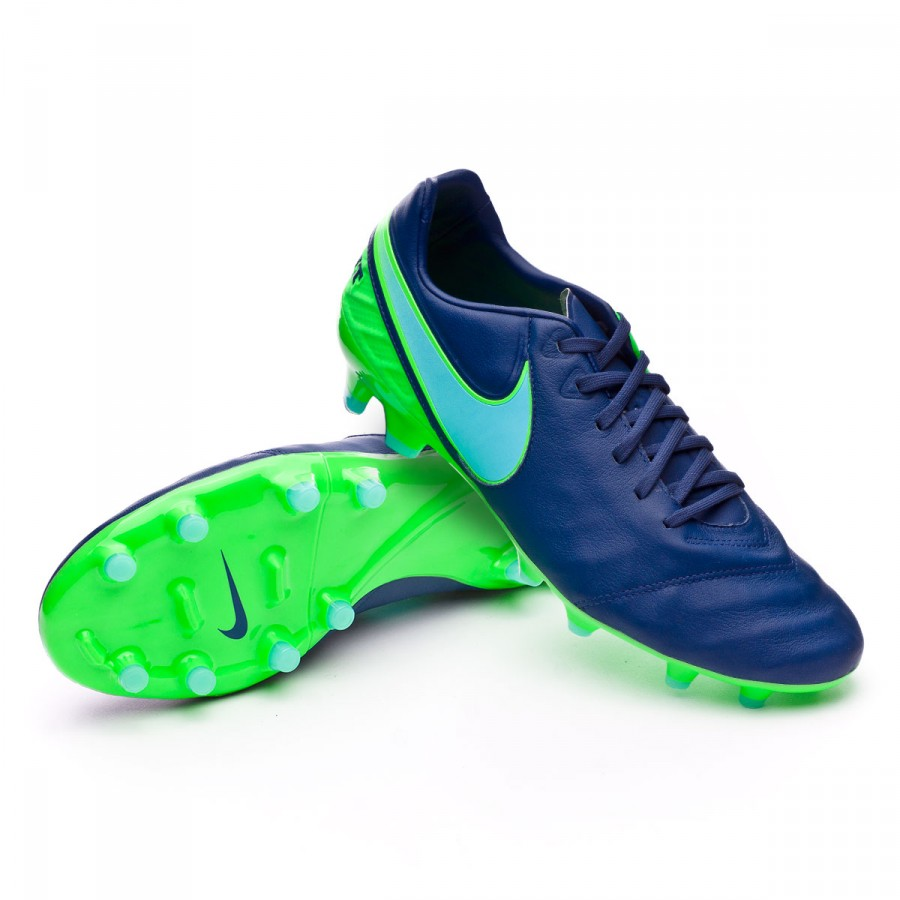 4b19b7a34bf76 Football Boots Nike Tiempo Legacy II FG Coastal blue-Polarized blue ...
