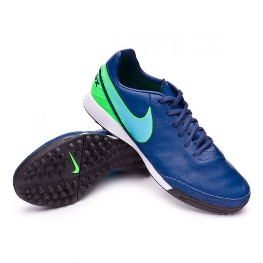 Zapatilla de fútbol sala  Nike TiempoX Mystic V Turf Coastal blue-Polarized blue-Rage green