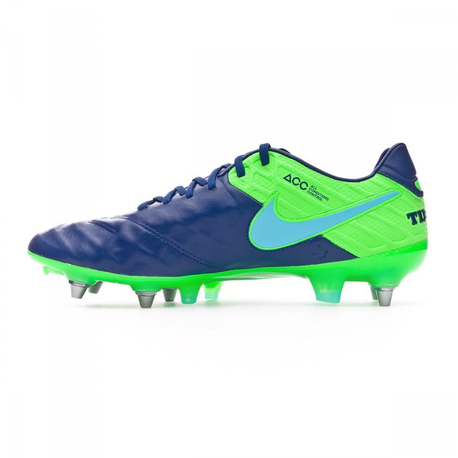 fed9a55a1fb Football Boots Nike Tiempo Legend VI ACC SG-Pro Coastal blue-Polarized blue-Rage  green - Football store Fútbol Emotion