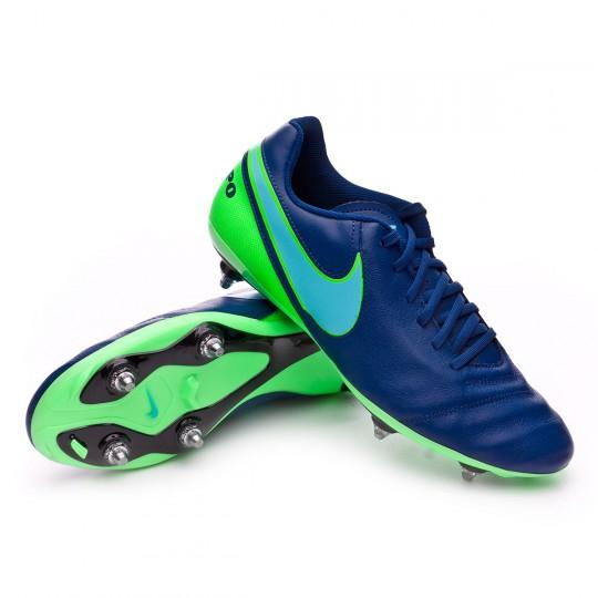 Chuteira  Nike Tiempo Genio Leather II SG Coastal blue-Polarized blue-Rage green