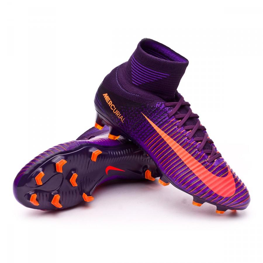 undefined. Cargando zoom. Nike. Bota Mercurial Superfly V ACC FG Purple  dynasty-Bright citrus-Hyper grape ...