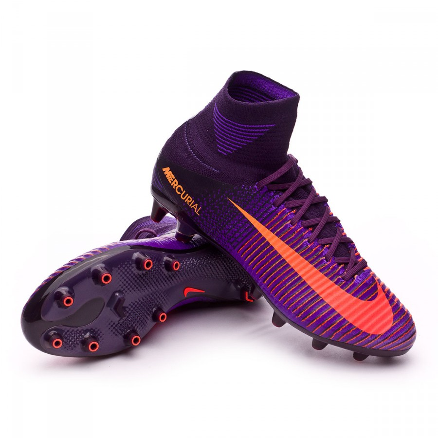 e14f6bb7f8b5 Nike Mercurial Superfly V ACC AG-Pro Football Boots. Purple dynasty-Bright  citrus-Hyper grape ...