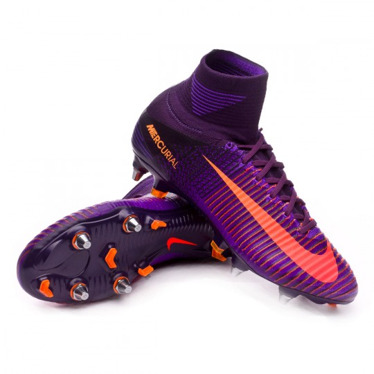 Chuteira  Nike Mercurial Superfly V ACC SG-Pro Purple dynasty-Bright citrus-Hyper grape