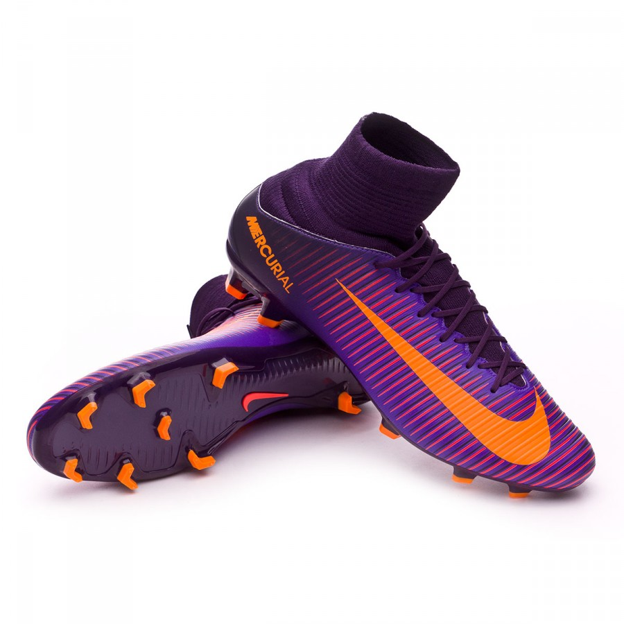 Boot Nike Mercurial Veloce III DF FG Purple dynasty-Bright citrus ... 54df900d0f0a7