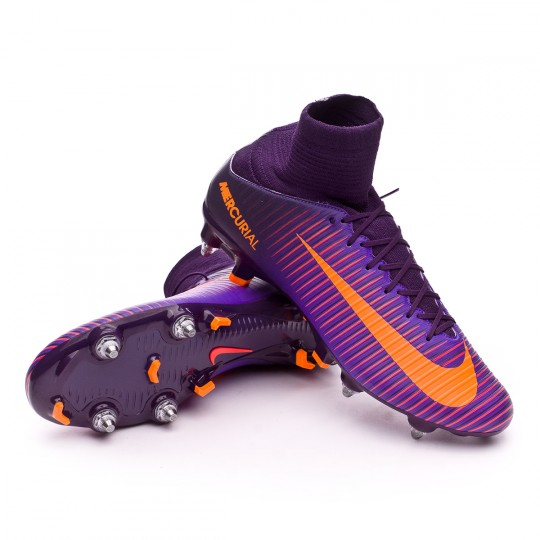 Bota  Nike Mercurial Veloce III Dynamic Fit SG-Pro Purple dynasty-Bright citrus-Hyper grape
