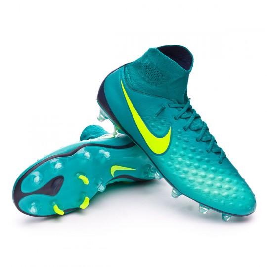 Chuteira  Nike Magista Orden II FG Rio teal-Volt-Obsidian-Clear jade