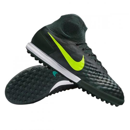 Sapatilha de Futsal  Nike MagistaX Proximo II Turf Seaweed-Volt-Hasta-Mica green