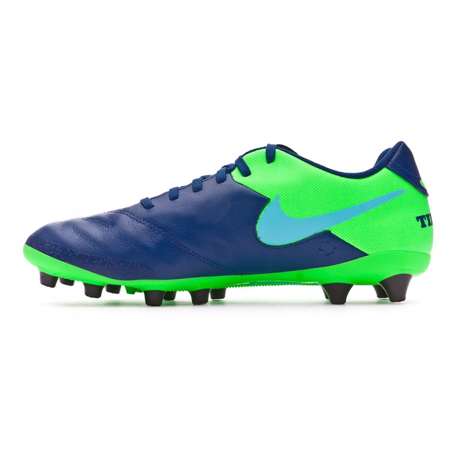 best loved e46a5 d6878 Chaussure de foot Nike Tiempo Genio Leather II AG-Pro Coastal  blue-Polarized blue-Rage green - Boutique de football Fútbol Emotion