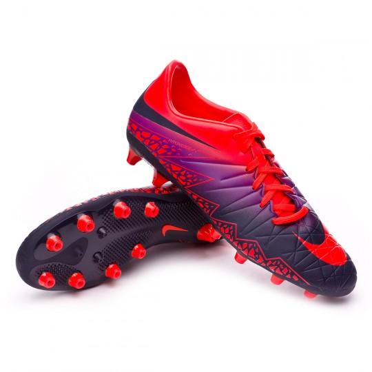 Chuteira  Nike Hypervenom Phelon II AG-Pro Total crimson-Obsidian-Vivid purple-Bright cr