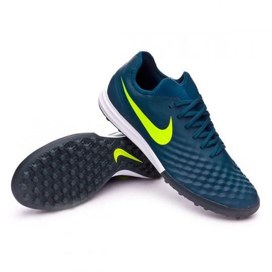 Zapatilla de fútbol sala  Nike MagistaX Finale II Turf Midnight Turquoise-Volt-Hasta-Game light brow