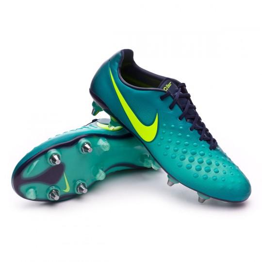 Chuteira  Nike Magista Opus II ACC SG-Pro Rio teal-Volt-Obsidian-Clear jade