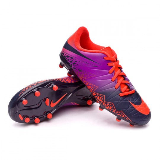 Bota  Nike jr HyperVenom Phelon II FG Total crimson-Obsidian-Vivid purple-Bright cr