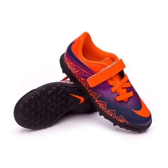 Zapatilla de fútbol sala  Nike jr HyperVenomX Phade II (V) Turf Total crimson-Obsidian-Vivid purple-Bright cr