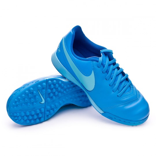 Zapatilla de fútbol sala  Nike jr TiempoX Legend VI Turf Blue glow-Polarized blue-Soar