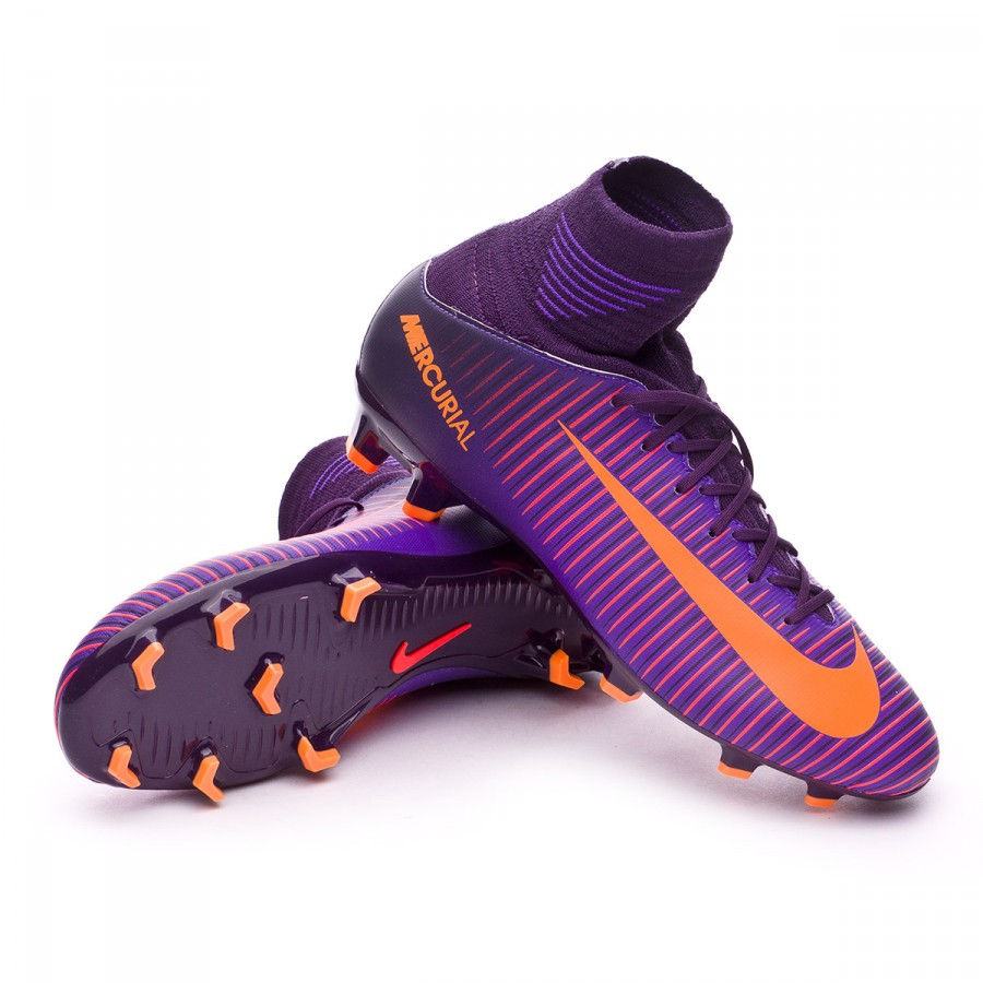 24edd8195 Nike Jr Mercurial Superfly V ACC FG Football Boots. Purple dynasty-Bright  ...