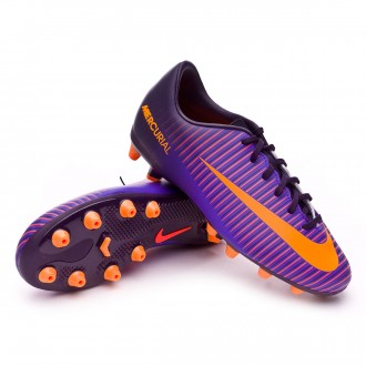 Chuteira  Nike Jr Mercurial Vapor XI ACC AG Purple dynasty-Bright citrus-Hyper grape