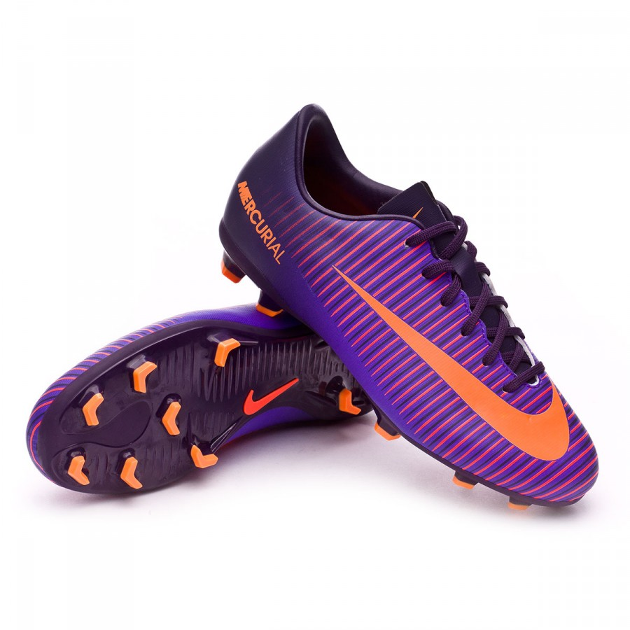 9ab12ce55405 Nike Jr Mercurial Vapor XI ACC FG Football Boots. Purple dynasty-Bright ...