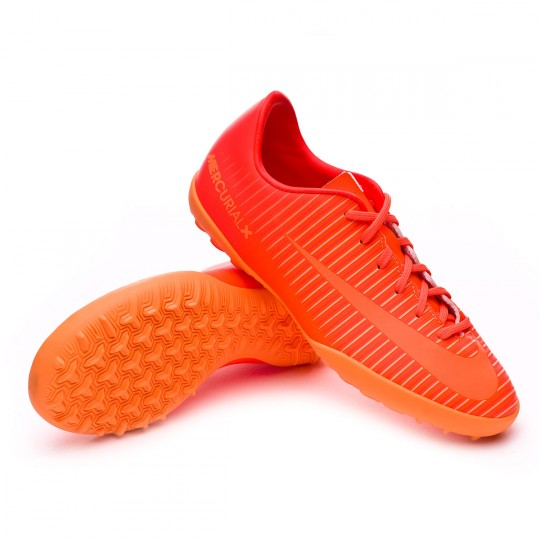 Zapatilla de fútbol sala  Nike jr MercurialX Vapor XI Turf Total orange-Bright citrus-Hyper crimson