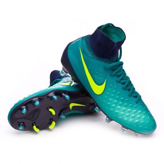 Bota  Nike jr Magista Obra II ACC FG Rio teal-Volt-Obsidian-Clear jade