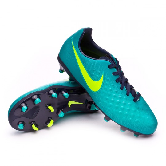 Chuteira  Nike jr Magista Opus II FG Rio teal-Volt-Obsidian-Clear jade