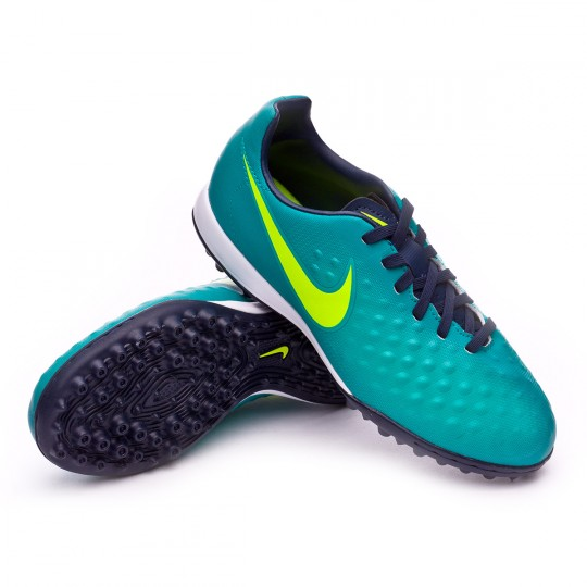 Zapatilla de fútbol sala  Nike jr MagistaX Opus II Turf Rio teal-Volt-Obsidian-Clear jade