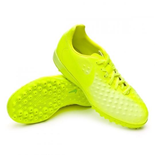 Zapatilla de fútbol sala  Nike jr MagistaX Opus II Turf Volt-Barely Volt-Electric green