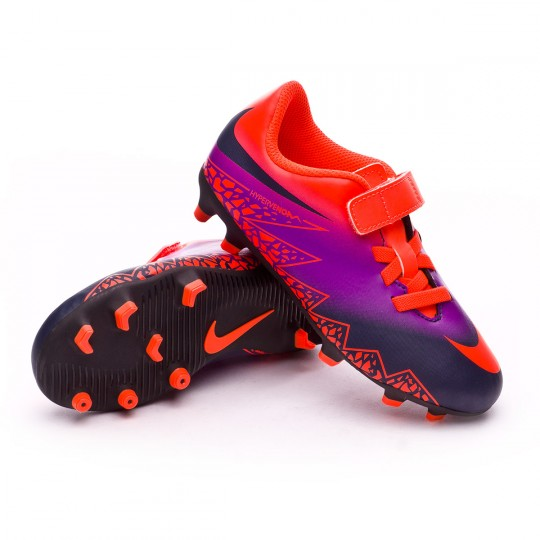 Chuteira  Nike jr Hypervenom Phade II (V) FG Total crimson-Obsidian-Vivid purple-Bright cr