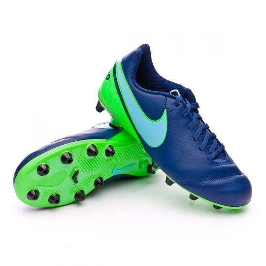 Chuteira  Nike jr Tiempo Legend VI AG-Pro Coastal blue-Polarized blue-Rage green