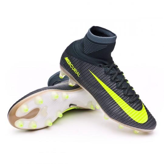 Chuteira  Nike Mercurial Superfly V ACC CR7 AG-Pro Seaweed-Volt-hasta-White