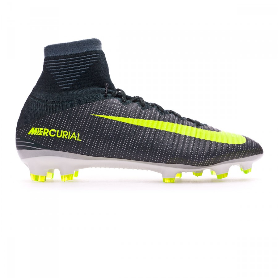 c8670fc2014 Football Boots Nike Mercurial Superfly V ACC CR7 FG Seaweed-Volt-hasta-White  - Tienda de fútbol Fútbol Emotion