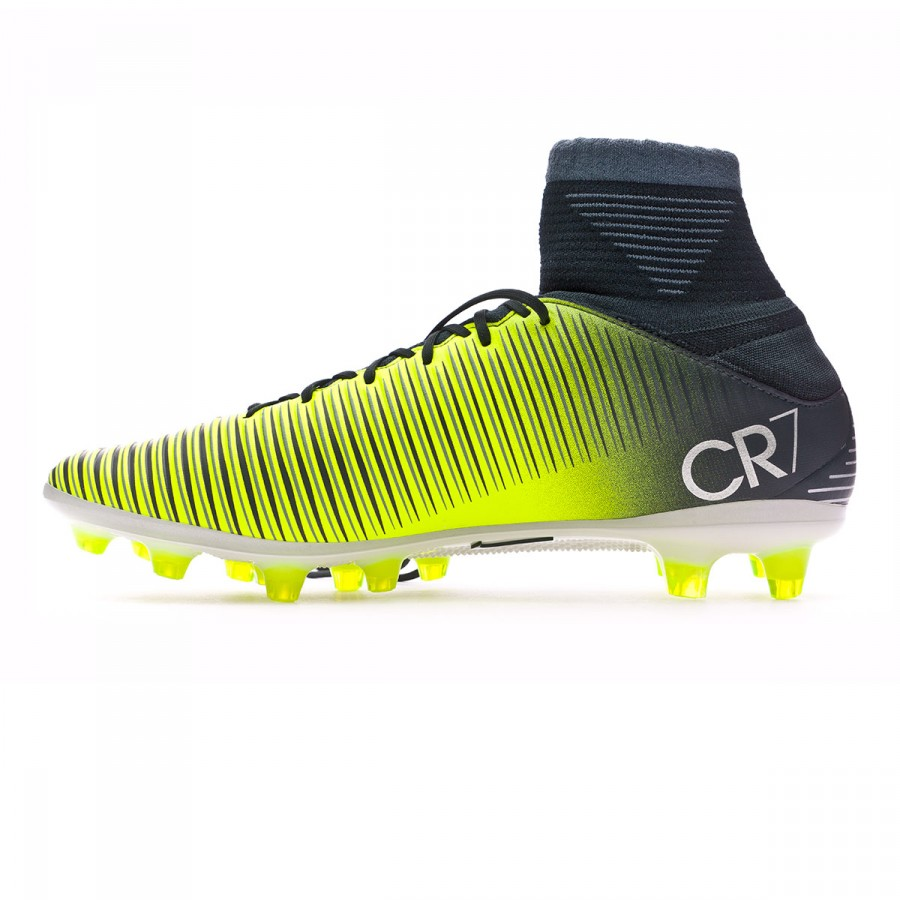 bcca93c56 Football Boots Nike Mercurial Veloce III DF CR7 AG-Pro Seaweed-Volt-hasta-White  - Football store Fútbol Emotion
