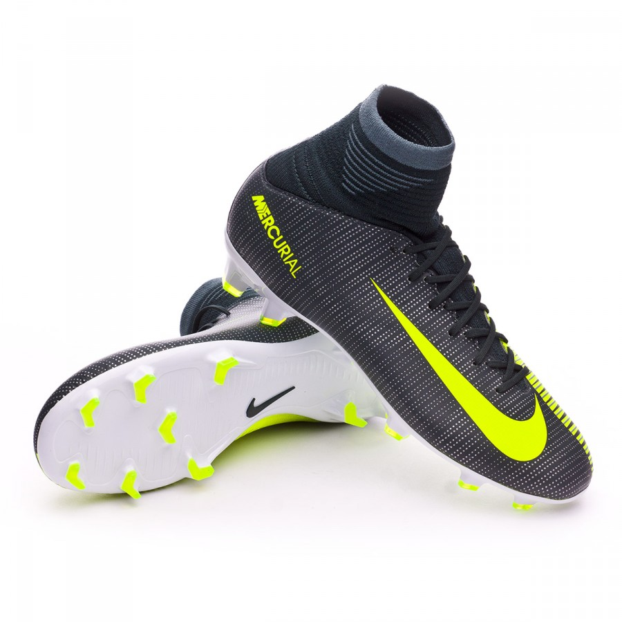 52f499ebce79 Football Boots Nike Kids Mercurial Superfly V CR7 FG Seaweed-Volt ...