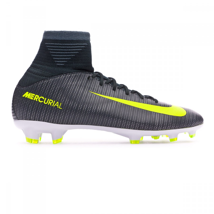 12925ed8bdaa Football Boots Nike Kids Mercurial Superfly V CR7 FG Seaweed-Volt-hasta- White - Tienda de fútbol Fútbol Emotion