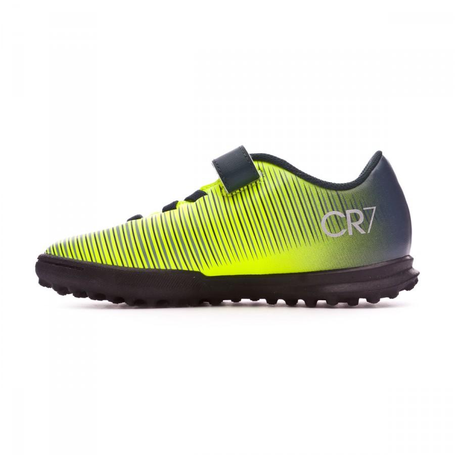 Football Boot Nike Jr MercurialX Vortex III Velcro CR7 Turf Seaweed ... 45b2559456d0c