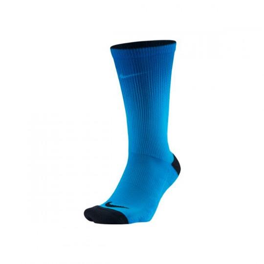 Calcetines  Nike Crew Print Blue glow-Black