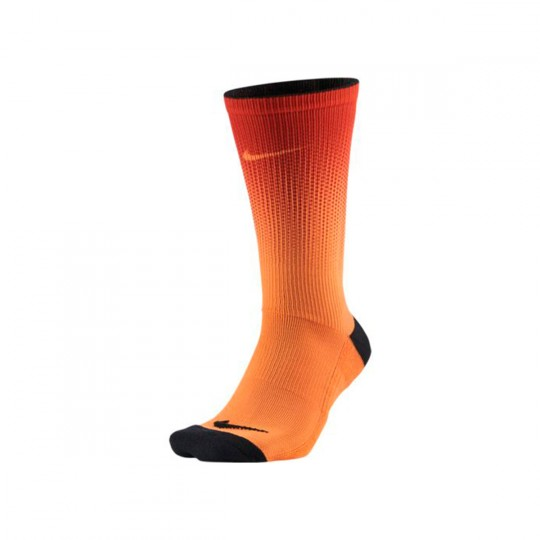 Calcetines  Nike Crew Print Bright citrus-Black