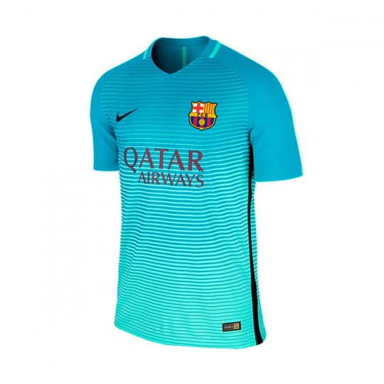 Camiseta  Nike FC Barcelona 3a Vapor Match 2016-2017 Green glow-Energy glow-Black