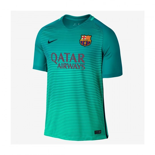 Camiseta  Nike FC Barcelona 3a Stadium 2016-2017 Green glow-Energy glow-Black