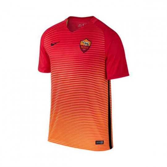 Camiseta  Nike jr A.S. Roma 3ª Equipación 2016-2017 Action red-Bright citrus-Black