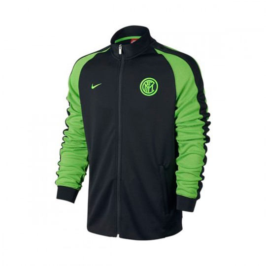 Chaqueta  Nike Inter Milan Authentic N98 2016-2017 Black-Electric green