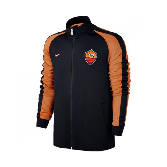Chaqueta  Nike A.S. Roma Authentic N98 2016-2017 Black-Bright citrus