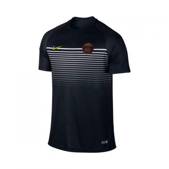 Camiseta  Nike Paris Saint-Germain 2016-2017 Black-Iridescent