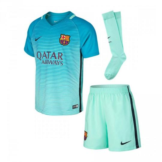 Conjunto  Nike jr FC Barcelona 3a Bebe 2016-2017 Green glow-Energy glow-Black