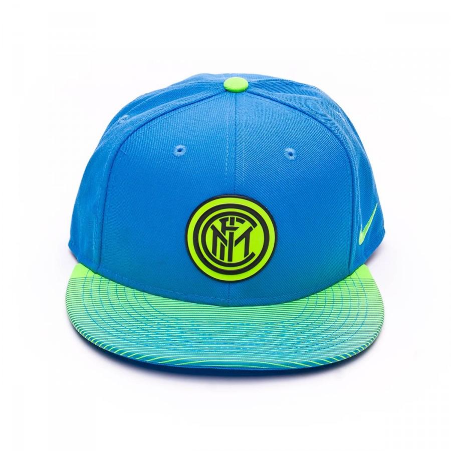 6c3d60eb6a8 Cap Nike Inter Milan 2016-2017 light photo blue-Volt-Black - Football store  Fútbol Emotion