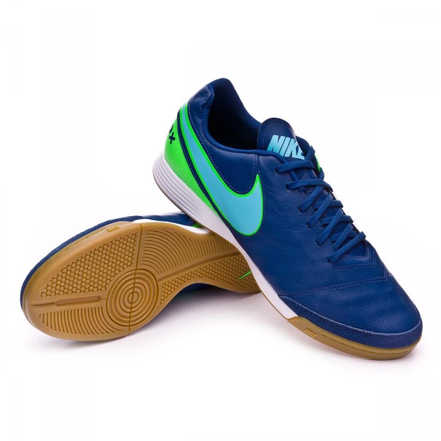 ... Zapatilla TiempoX Genio Leather II IC Coastal blue-Polarized blue-Rage  green. CATEGORY b9c1769d676