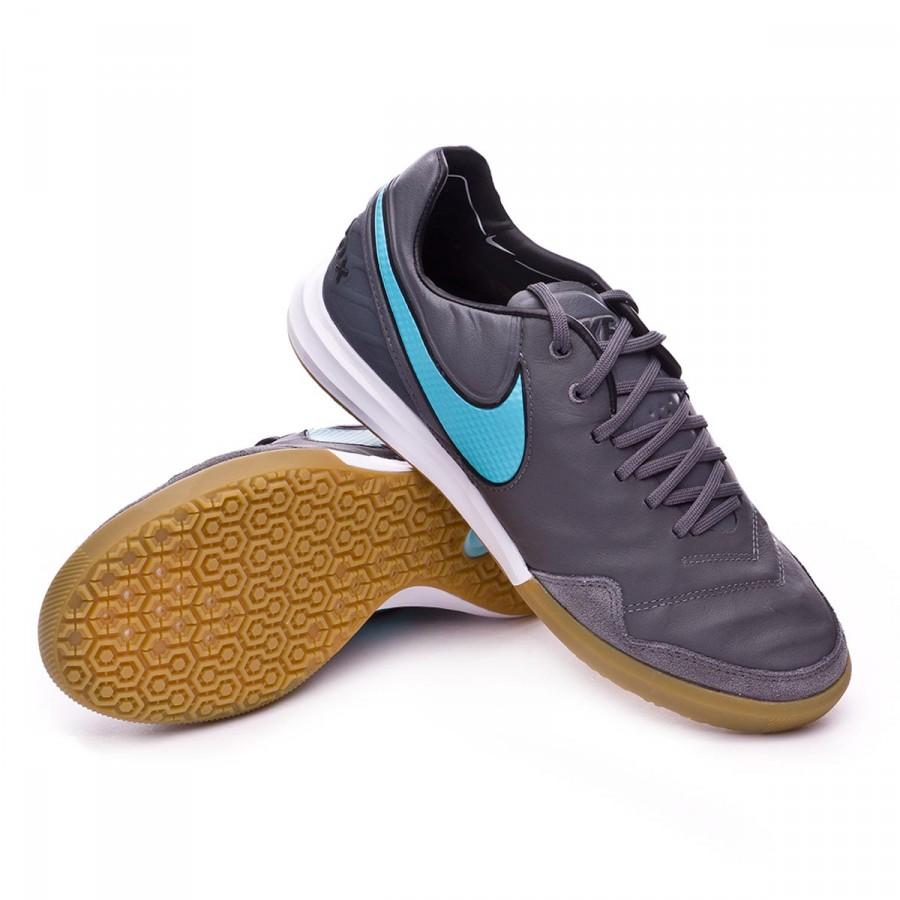11dfbc56699f Futsal Boot Nike TiempoX Proximo IC Dark grey-Polarized blue-Game ...