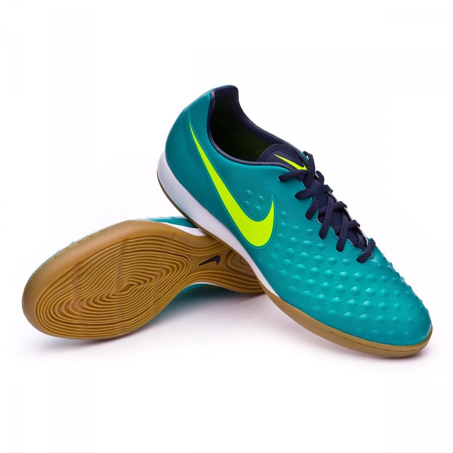 caab49a319 Sapatilha de Futsal Nike MagistaX Onda II IC Rio teal-Volt-Obsidian-Clear  jade - Loja de futebol Fútbol Emotion