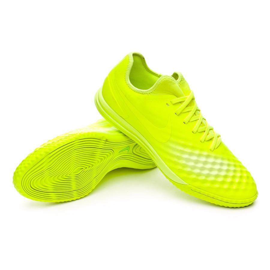 cupón doble descuento en venta brillante n color Futsal Boot Nike MagistaX Finale II IC Volt-Volt ice-Barely volt ...